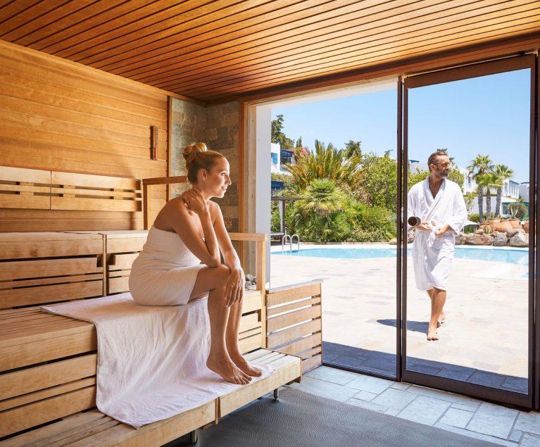 Entspannen & Relaxen: Im neuen Saunabereich des ROBINSON Club Daidalos