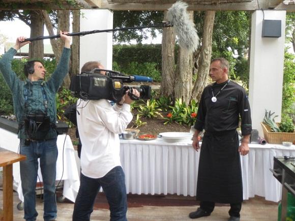 Ein Koch, eine Kamera & viele Töpfe: TV-Dreh im Club Quinta da Ria