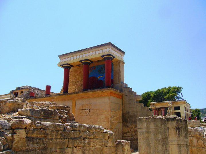 Die Ruinen von Knossos auf Kreta