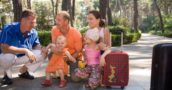Ankunft im Club – mit optimal gepackten Koffern