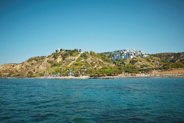 Blick vom Meer auf den ROBINSON Club Daidalos, Kos, Griechenland