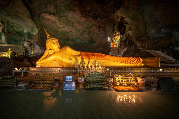 Liegender Buddha im Was Suwan Khuha Tempel, Thailand