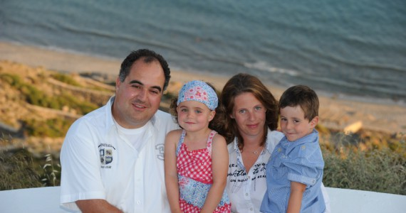 Familie am Strand bei Robinson