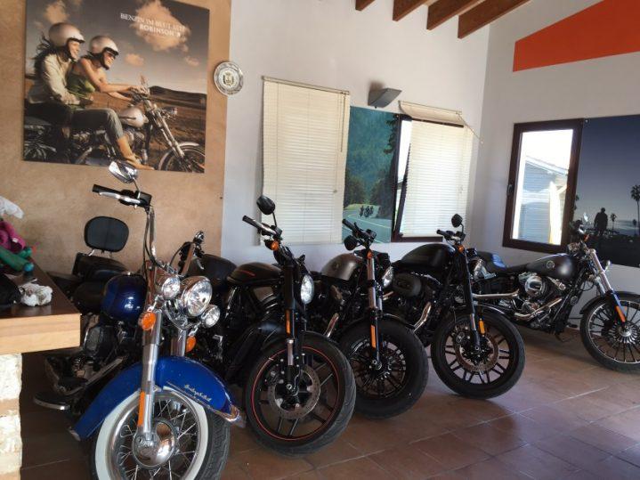 Harley-Davidson-Maschinen-im-Club