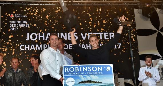 Siegerehrung Champion des Jahres mit Johannes Vetter
