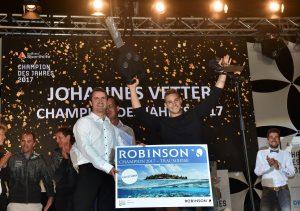 Der Champion des Jahres 2017 steht fest: Herzlichen Glückwunsch an Speerwerfer Johannes Vetter. Foto: picture alliance für Sporthilfe