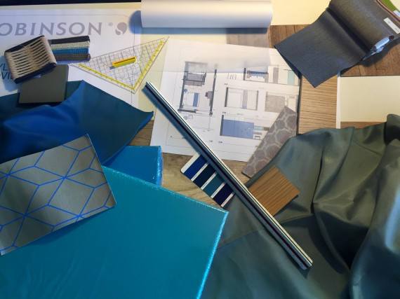 Stoffe und Bauzeichnungen ROBINSON Clubplanung