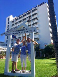 Torre im Club Jandia Playa vor Abriss mit Fotowand
