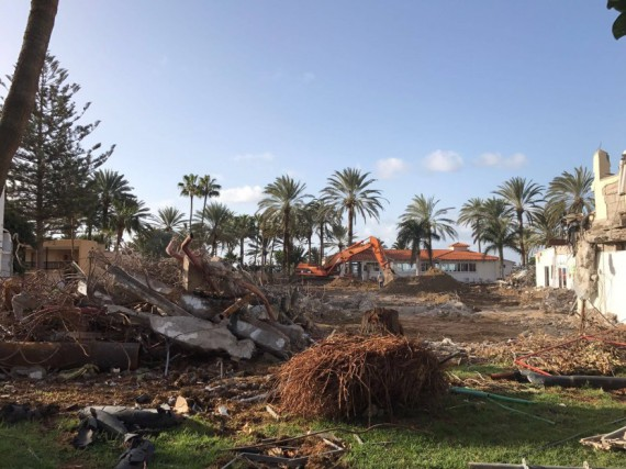 Abriss altes Gebäude im ROBINSON Club Jandia Playa
