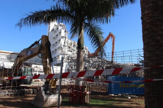 Baustelle Abriss altes Gebäude ROBINSON Club Jandia Playa