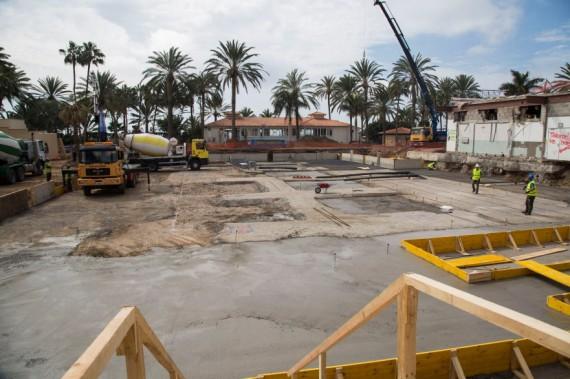 Neues Fundament auf der Baustelle im ROBINSON Club Jandia Playa