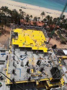 Vogelperspektive Baustelle Torre Club Jandia Playa