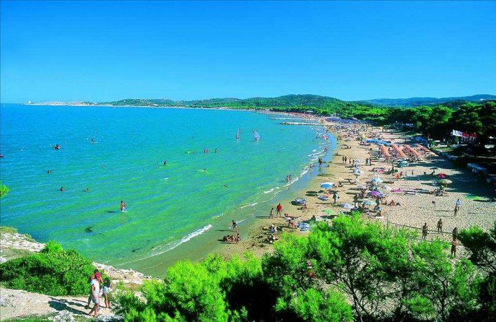 Strand bei Vieste Apulien Itlalien