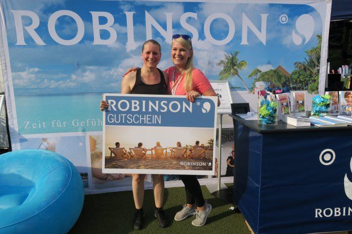 Gewinnerin des ROBINSON Reise auf dem World Fitness Day