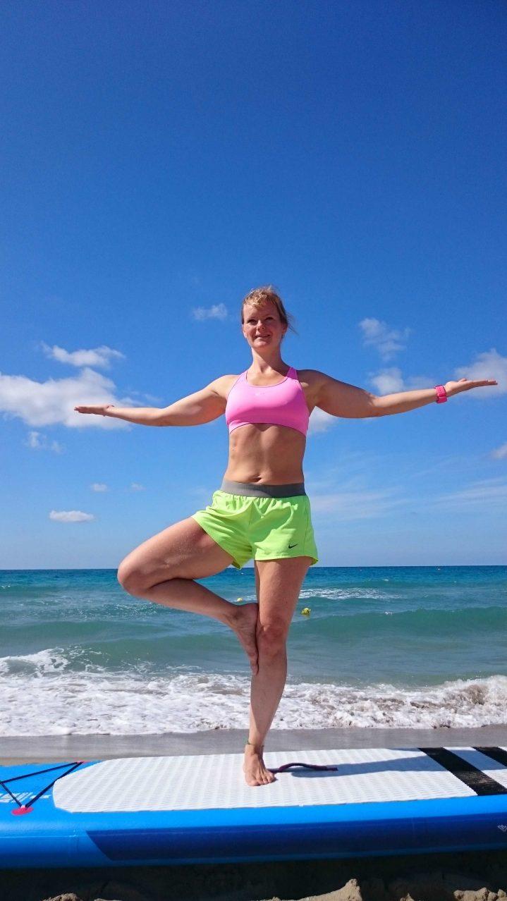 SUP Yoga Übung Baum