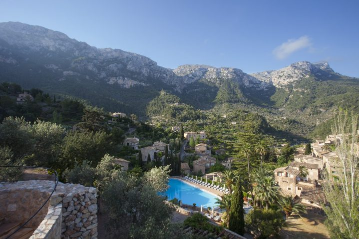 Blick auf Deia auf Mallorca