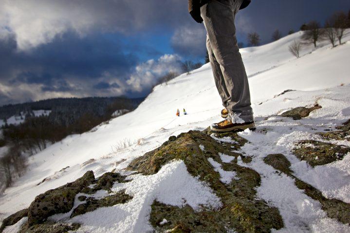 Bergwanderung im Winter