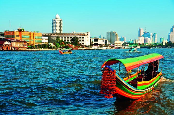 Boot auf Chao Phraya