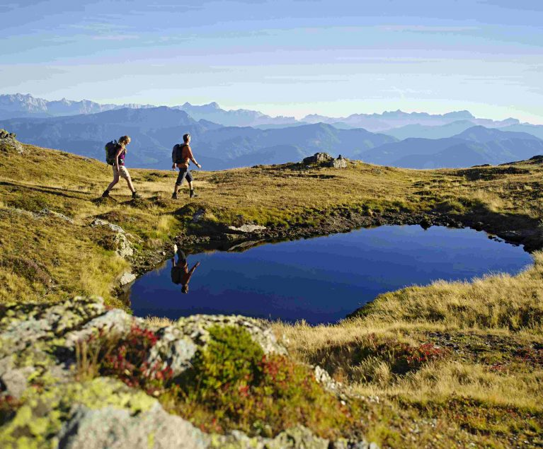 Berge und Seen: Wandern in den Alpen Kärntens ist ein echtes Highlight.
