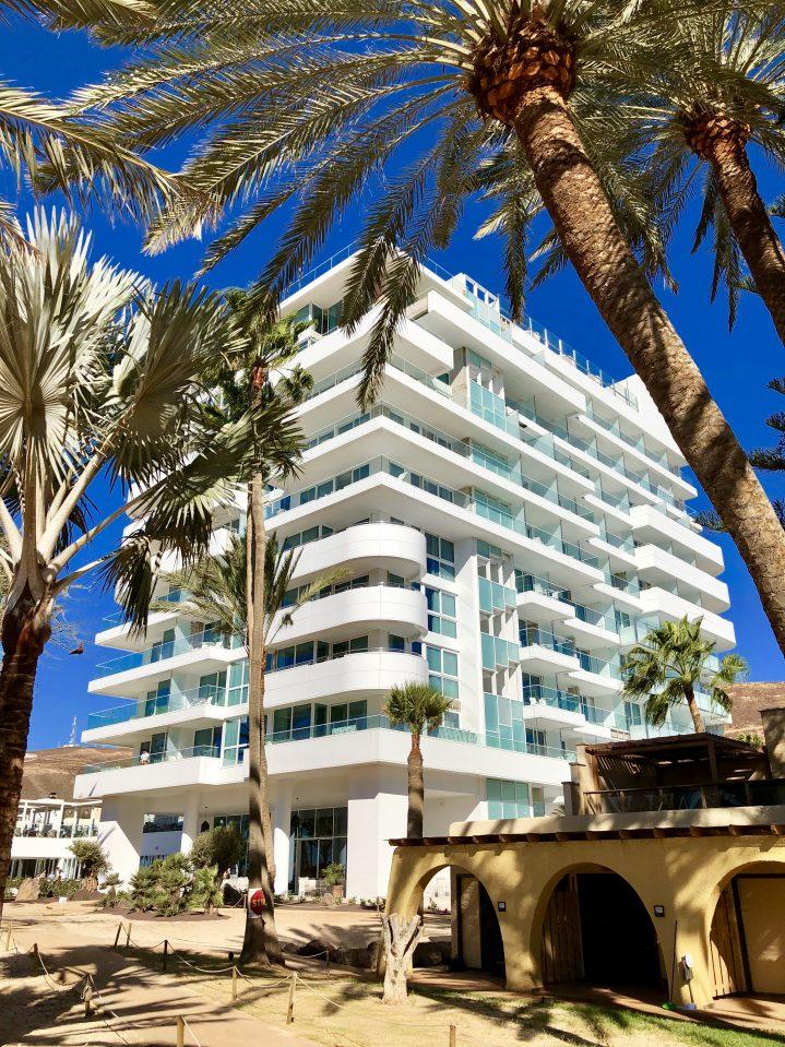 Blick auf den neuen Torre des ROBINSON CLUB Jandia Playa, Fuerteventura