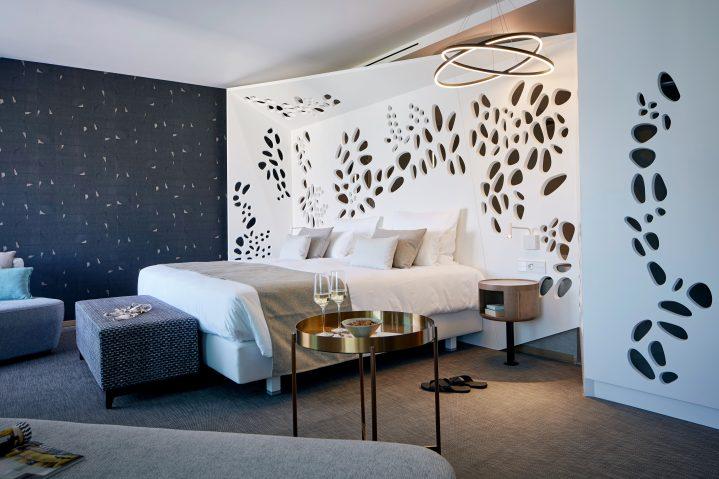 Wohnbeispiel eines Schlafzimmers des ROBINSON CLUB Jandia Playa, Fuerteventura