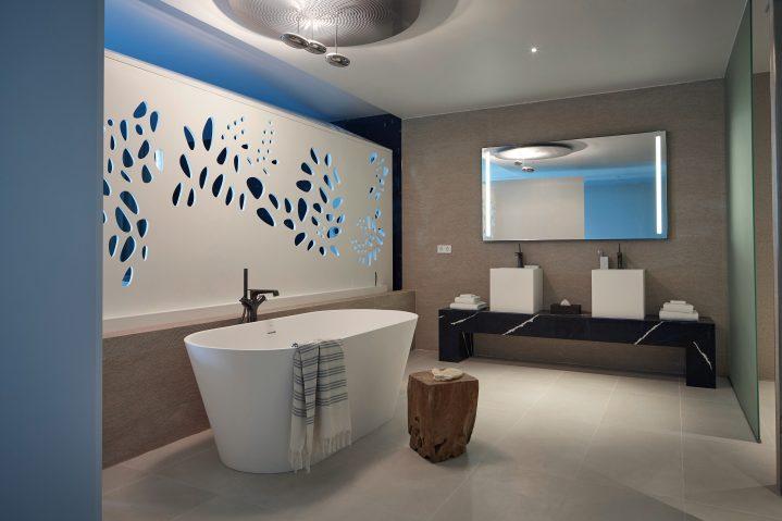Bad im ROBINSON Hotelzimmer des ROBINSON CLUB Jandia Playa, Fuerteventura