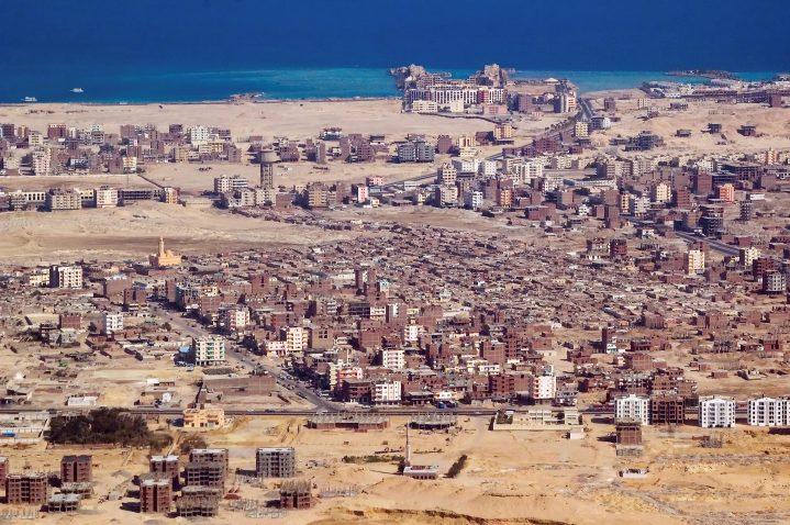 Stadt Hurghada von oben