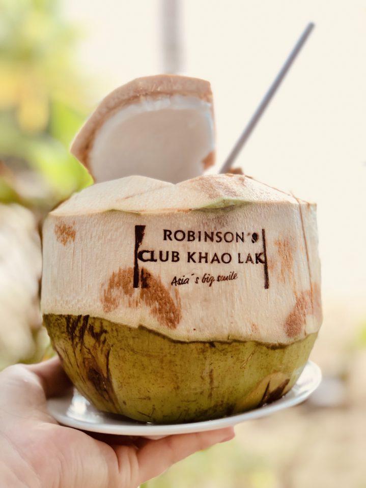 Beliebtes Fotomotiv in Thailand: die Kokosnuss