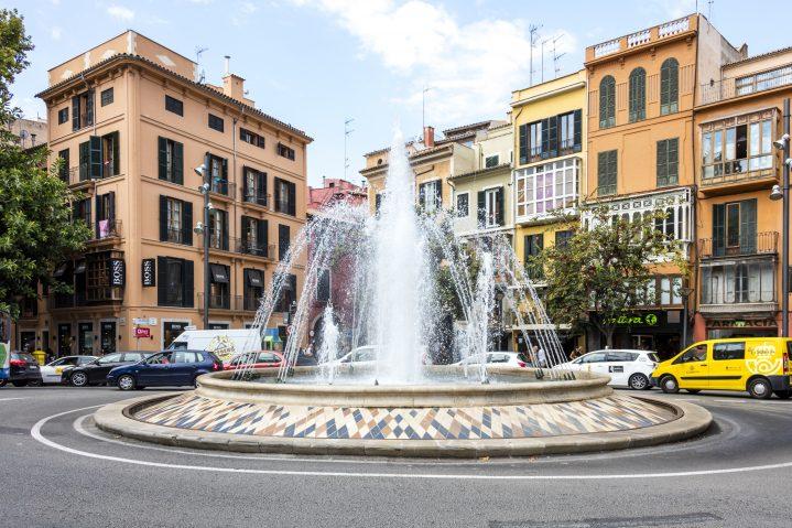 Springbrunnen Altstadt Palma Mallorca