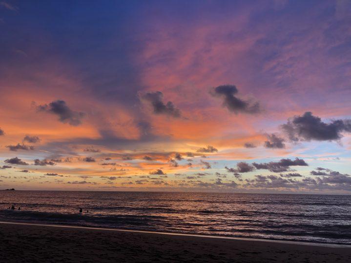 Malerischer Sonnenuntergang in Thailand