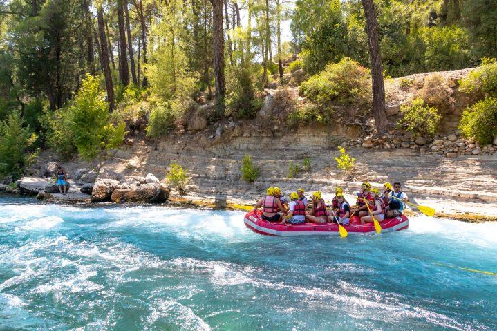 Rafting in der Antalya Region, Türkei