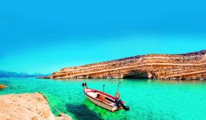 Strand bei Matala auf Kreta