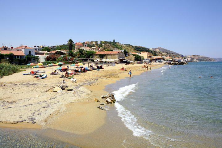 Sandstrand in Chania auf Kreta