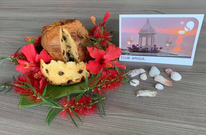 Panettone Kuchen - traditionelles Weihnachtsdessert in Italien