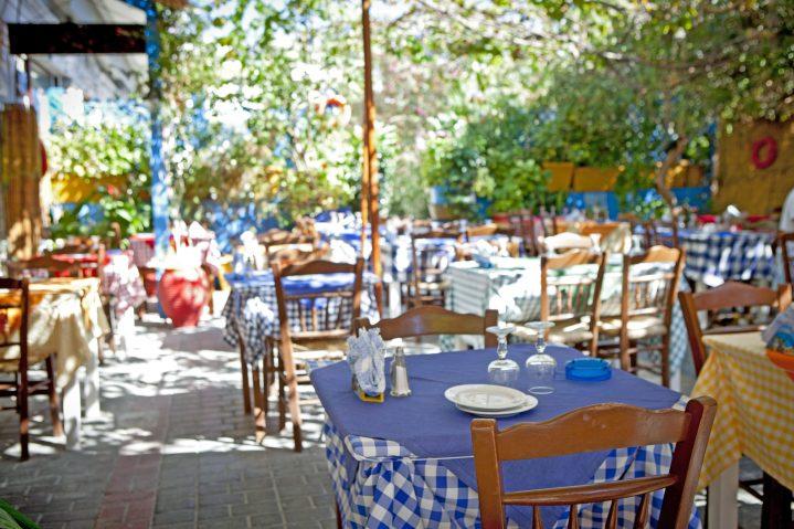 Restaurant-Terrasse in Kos Stadt