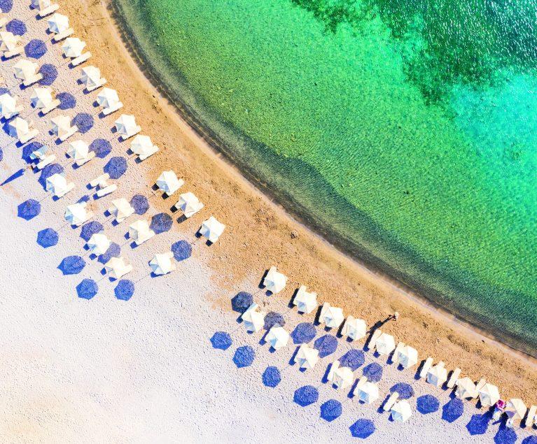 Elounda Strand auf Kreta