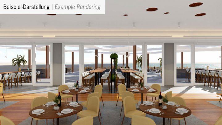 Großes Hauptrestaurant im Club Cabo Verde