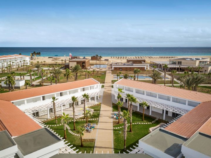 Blick auf den ROBINSON Club Cabo Verde, Sal, Kapverdische Inseln