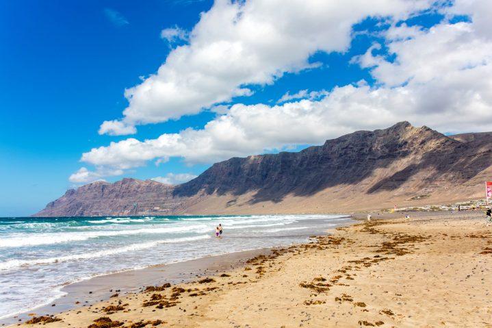 Strand von Famara, Lanzarote, Kanarische Inseln