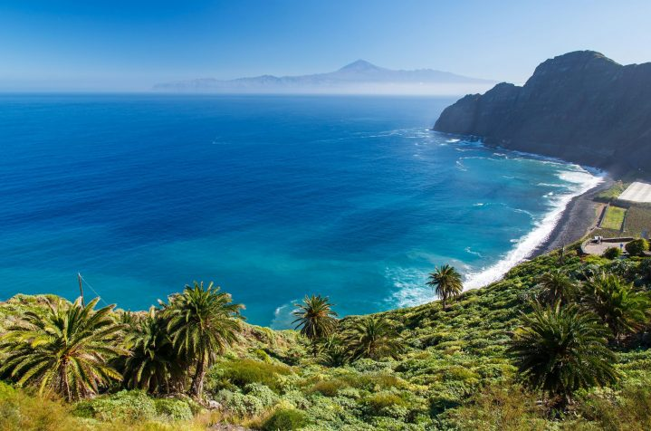 Blick auf La Gomera, Kanarische Inseln