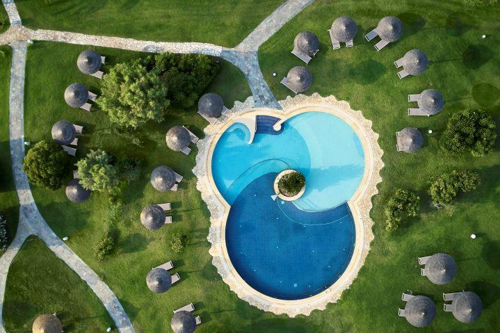 Blick von oben auf den Family Pool des ROBINSON Club Kyllini Beach, Peloponnes, Griechenland