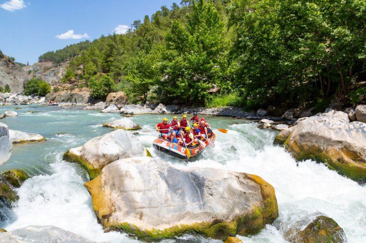 Whitwaterrafting auf dem Fluss Dalaman, Türkei