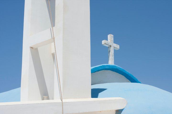 Kirche mit Kreuz auf Zypern