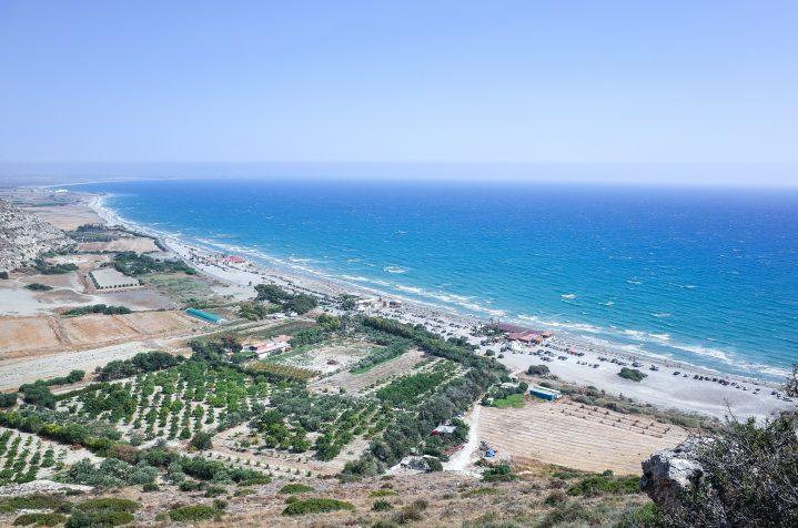 Kourion Beach im Süden Zyperns