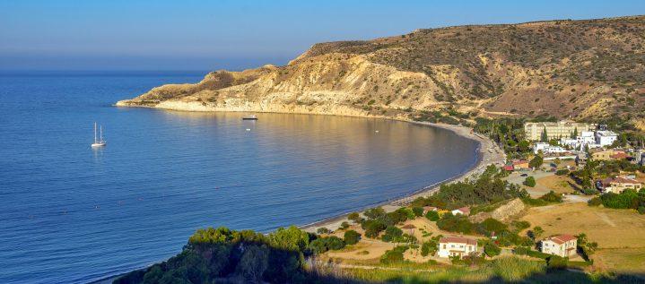 Pissouri Bucht auf Zypern