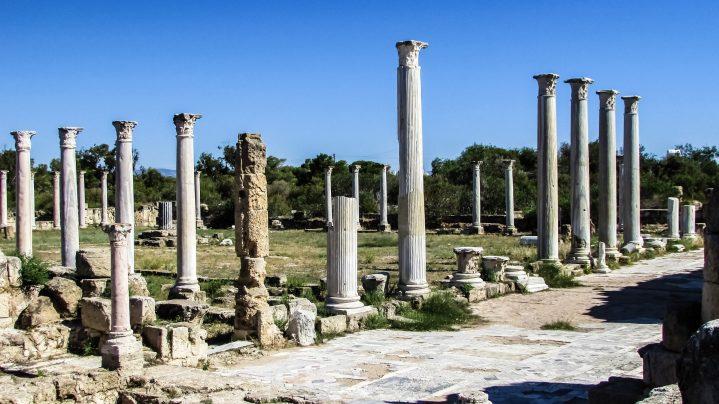 Antike Ruinen von Salamis auf Zypern