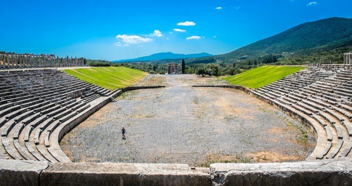 Anphitheater im antiken Messini auf der Halbinsel Peloponnes