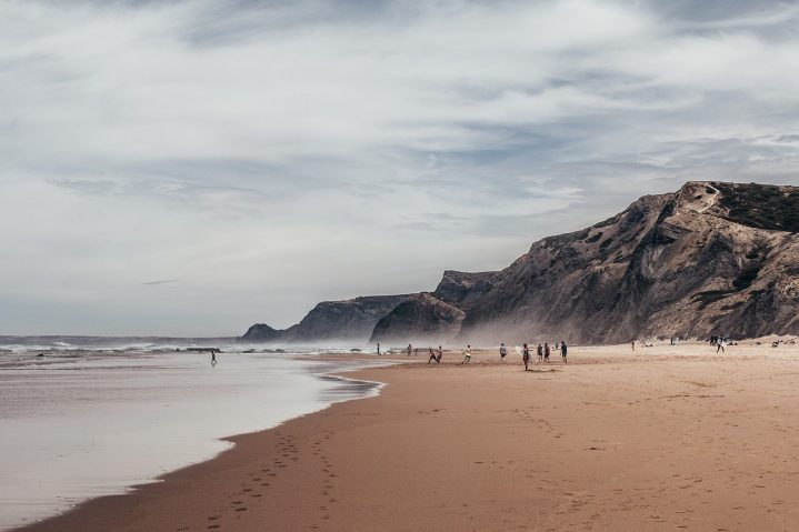 Weiter Sandstrand am Praia de Odeceixe
