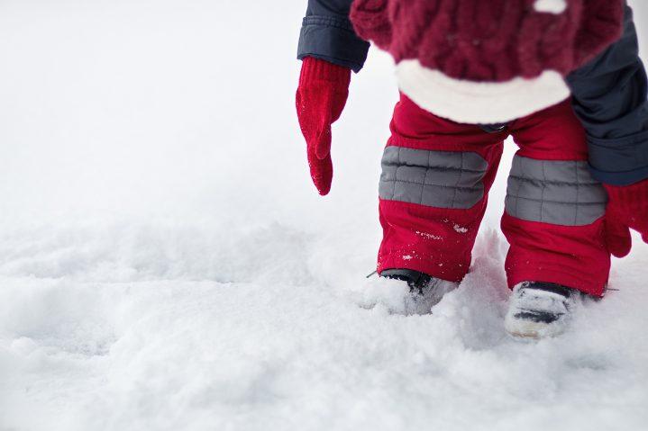 Baby im Schnee
