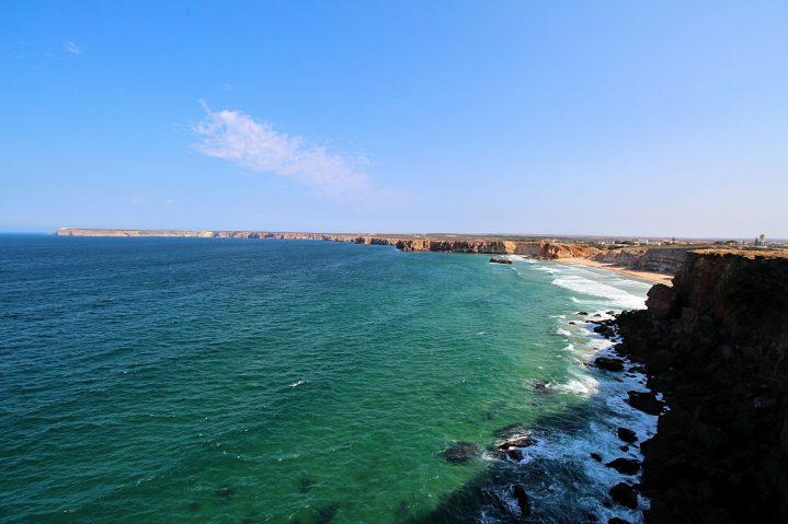 Küste am Strand Praia do Martinhal Portugal